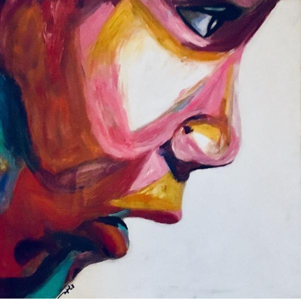Valentina, 2015, mix fluorescent on canvas, Size: 60 x 60 cm