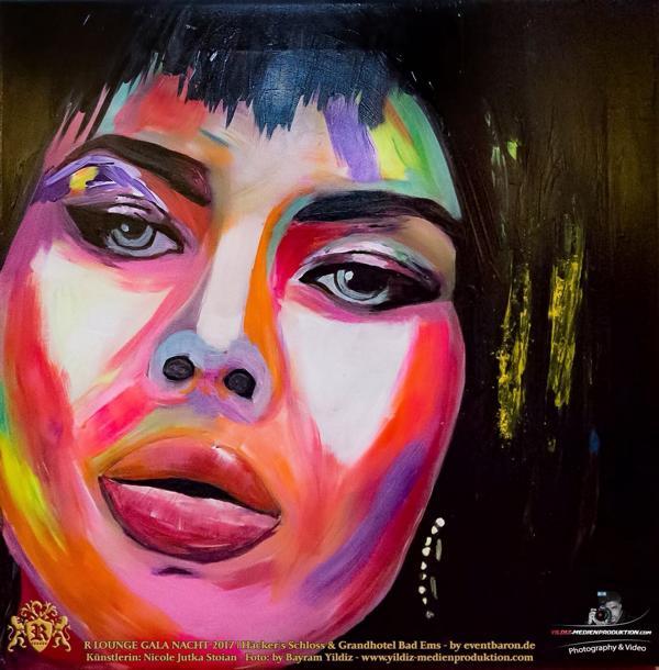 Rachel, 2015, mix fluorescent on canvas, Size: 50 x 50 cm